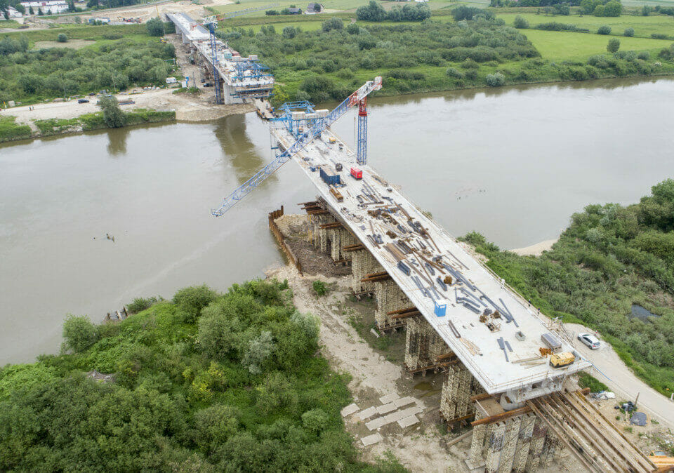 Most na Wiśle w Nowym Korczynie
